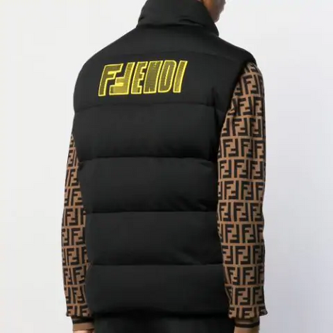 Fendi Vest with the motif on the back - Black - Men - Apparel - Outerwear - Jackets - Fendi | Gethuda Fashion