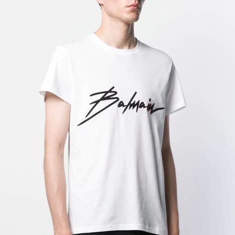 Balmain Signature Logo T-Shirt - Men - Apparel - Shirts - T Shirts - Balmain | Gethuda Fashion