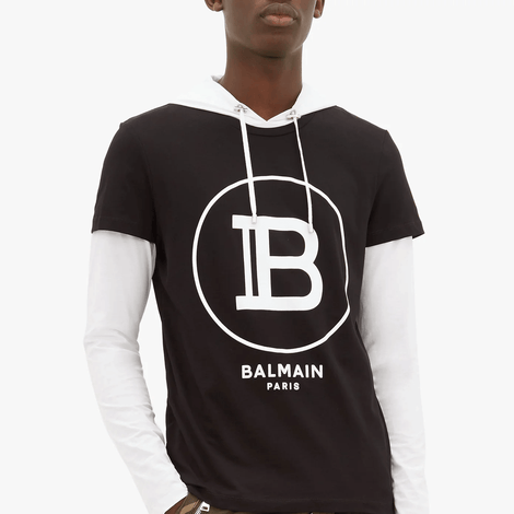 Balmain Big Circle B T-Shirt - Men - Apparel - Shirts - T Shirts - Balmain | Gethuda Fashion