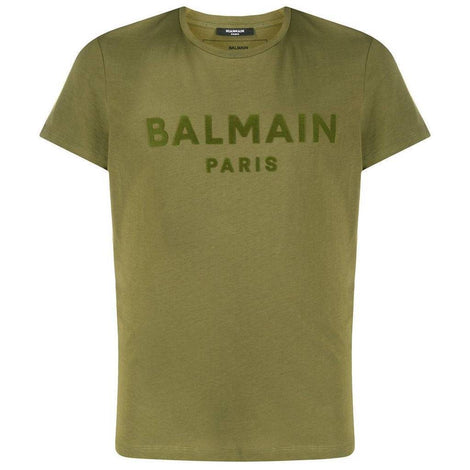 Balmain Green T-Shirt with Balmain Paris logo