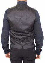 Dolce & Gabbana Black Wool Silk Stretch Dress Vest Blazer - Men - Apparel - Suits - Vest - Dolce & Gabbana | Gethuda Fashion