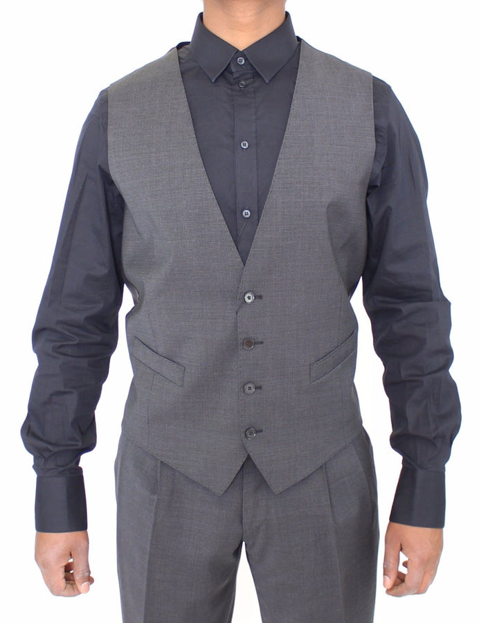 Dolce & Gabbana Gray Stretch Formal Dress Vest Gilet - Men - Apparel - Suits - Vest - Dolce & Gabbana | Gethuda Fashion