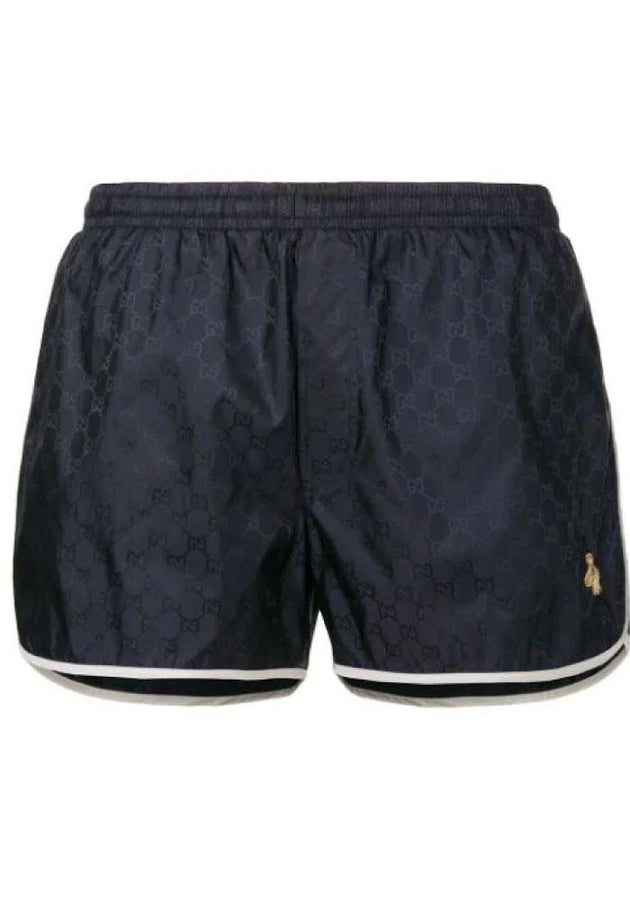GUCCI GG Nylon swim short with Bee - Men - Apparel - Swimwear - Board Shorts - Gucci | Gethuda Fashion