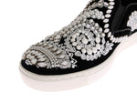 Dolce & Gabbana Black Velvet White Crystal Loafers - Men - Shoes - Loafers Drivers - Dolce & Gabbana | Gethuda Fashion