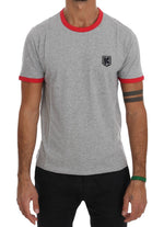 Kenzo Gray Red Cotton Crewneck T-Shirt - Men - Apparel - Shirts - T Shirts - Kenzo | Gethuda Fashion