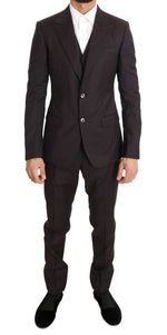Dolce & Gabbana Bordeaux Wool Slim Fit Two Button Suit