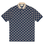 Gucci GG Embroidered Blue Cotton Polo T-Shirt - Men - Apparel - Shirts - Polos - Gucci | Gethuda Fashion