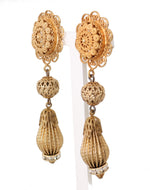 Dolce & Gabbana Gold Clear Crystal Clip Earrings - Women - Jewelry - Earrings - Dolce & Gabbana | Gethuda Fashion