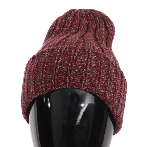 Dolce & Gabbana Beanie Cashmere Wool Bordeaux Gray Warm Hat - Men - Accessories - Hats - Dolce & Gabbana | Gethuda Fashion