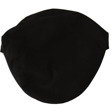 Dolce & Gabbana Black Cotton Stretch Logo Newsboy Cap - Men - Accessories - Hats - Dolce & Gabbana | Gethuda Fashion