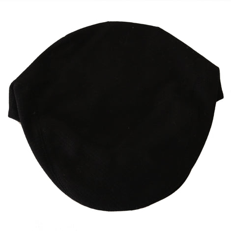 Dolce & Gabbana Black Cotton Woven Pattern Logo Newsboy Hat - Men - Accessories - Hats - Dolce & Gabbana | Gethuda Fashion