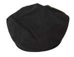 Gray Black Striped Cotton Stretch Newsboy Cap - Men - Accessories - Hats - Dolce & Gabbana | Gethuda Fashion