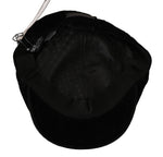 Dolce & Gabbana Solid Black Velvet Logo Badge Newsboy Cap - Men - Accessories - Hats - Dolce & Gabbana | Gethuda Fashion