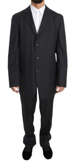 Z ZEGNA Gray Two Piece Three Button BRUNO CUOMO Exclusive Suit - Men - Apparel - Suits - Classic - Z ZEGNA | Gethuda Fashion