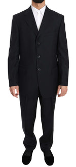 Solid Blue Two Piece 3 Button Suit - Men - Apparel - Suits - Classic - Z ZEGNA | Gethuda Fashion
