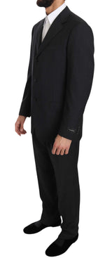 Ermenegildo Zegna Dark Gray two Piece 3 Button Wool suit - Men - Apparel - Suits - Classic - Ermenegildo Zegna | Gethuda Fashion