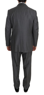 Ermenegildo Zegna Gray Solid 2 Piece 3 Button Wool Suit - Men - Apparel - Suits - Classic - Ermenegildo Zegna | Gethuda Fashion