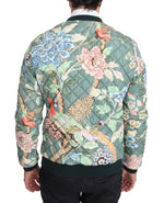 Dolce & Gabbana Green Quilted Reversible Bomber Jacket - Men - Apparel - Outerwear - Jackets - Dolce & Gabbana | Gethuda Fashion