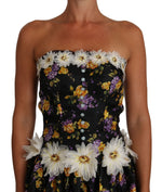 Dolce & Gabbana Black Sartoria Ball Floral Rose Crystal Dress - Women - Apparel - Dresses - Casual - Dolce & Gabbana | Gethuda Fashion