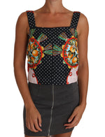 Dolce & Gabbana Orange Pattern Brocade Cami Blouse Top - Women - Apparel - Shirts - Blouses - Dolce & Gabbana | Gethuda Fashion
