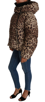Dolce & Gabbana Leopard Print  Winter Puffer Jacket - Women - Apparel - Outerwear - Jackets - Dolce & Gabbana | Gethuda Fashion