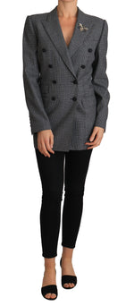 Dolce & Gabbana Gray Plaid Jacket Blazer Double Breasted Jacket - Women - Apparel - Outerwear - Jackets - Dolce & Gabbana | Gethuda Fashion