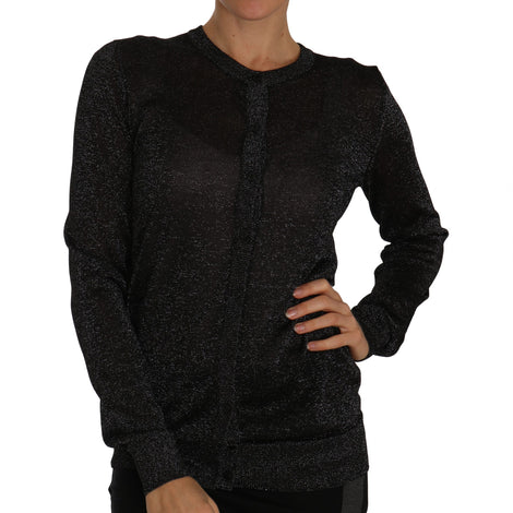 Dolce & Gabbana Black Cardigan Sweater Lightweight Top - Women - Apparel - Sweaters - Pull Over - Dolce & Gabbana | Gethuda Fashion