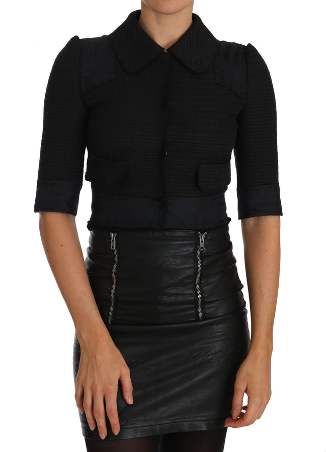 Dolce & Gabbana Black Short Cropped Jacket Blazer - Women - Apparel - Outerwear - Jackets - Dolce & Gabbana | Gethuda Fashion