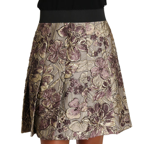 Dolce & Gabbana A-Line Mini Floral Print Jaquard Skirt - Women - Apparel - Skirts - Mini - Dolce & Gabbana | Gethuda Fashion