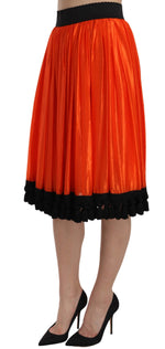 Dolce & Gabbana Orange High Waist Knee Length Skirt - Women - Apparel - Skirts - Knee Length - Dolce & Gabbana | Gethuda Fashion