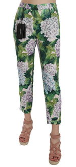 Dolce & Gabbana Hydrangea Brocade Cropped Straight Leg Pants - Women - Apparel - Pants - Trousers - Dolce & Gabbana | Gethuda Fashion