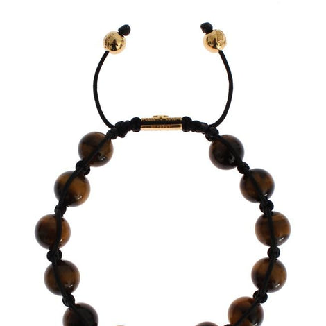 CZ Tiger Eye 18K Gold 925 Silver Bracelet
