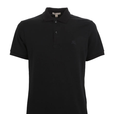 Burberry Black Brit Men Check Placket Pique Polo