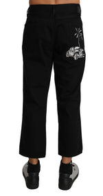 Dolce & Gabbana Black Denim CLASSIC Crown Cropped Jeans - Men - Apparel - Denim - Jeans - Dolce & Gabbana | Gethuda Fashion