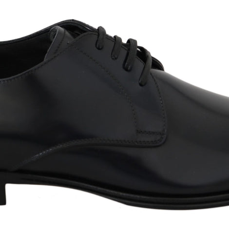 Dolce & Gabbana Blue Leather Dress Derby Formal Mens - Men - Shoes - Oxfords - Dolce & Gabbana | Gethuda Fashion