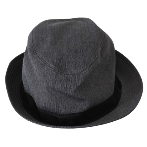 Dolce & Gabbana Gray Wool Blend Fedora Trilby Cappello Hat