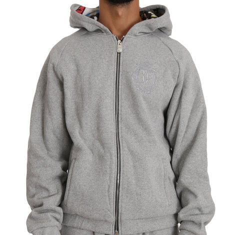 Billionaire Italian Couture Gray Cotton Sweater Tracksuit