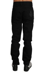 Dolce & Gabbana Black Denim 14GOLD Royal Bee Logo Jeans - Men - Apparel - Denim - Jeans - Dolce & Gabbana | Gethuda Fashion