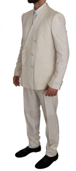 Dolce & Gabbana White MARTINI Double Breasted Slim Suit