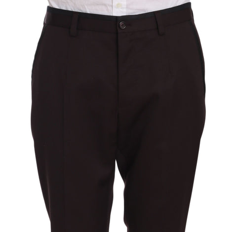 Dolce & Gabbana Purple Cotton Dress Formal Trouser Pants