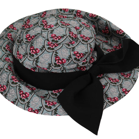 Dolce & Gabbana Floral Embroidered Cotton Trilby Cap Hat - Women - Accessories - Hats - Dolce & Gabbana | Gethuda Fashion