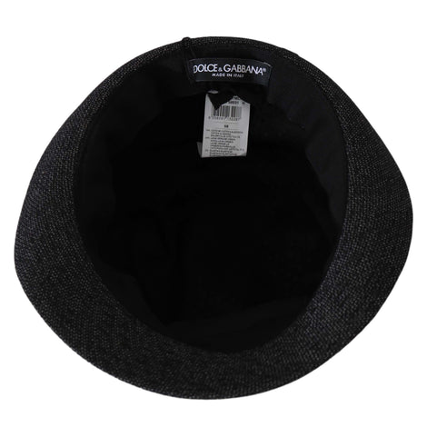 Dolce & Gabbana Gray Cotton Stretch Fedora Trilby Mens Hat - Men - Accessories - Hats - Dolce & Gabbana | Gethuda Fashion