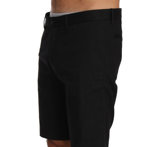 Dolce & Gabbana Black Cotton Chinos Above Knees Shorts - Men - Apparel - Shorts - Casual - Dolce & Gabbana | Gethuda Fashion