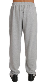 Billionaire Italian Couture Gray Cotton Sweater Pants Tracksuit -  - Billionaire Italian Couture | Gethuda Fashion