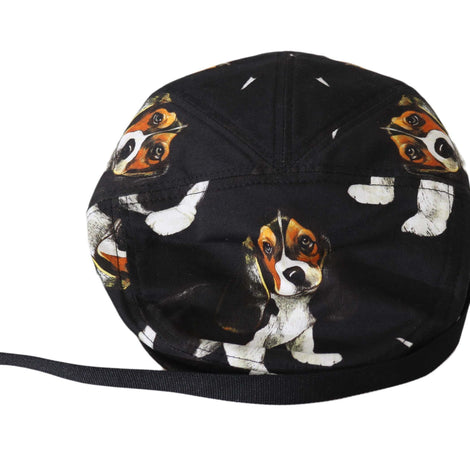 Dolce & Gabbana Black Dog Print Cotton Newsboy Cap Mens  Hat - Men - Accessories - Hats - Dolce & Gabbana | Gethuda Fashion