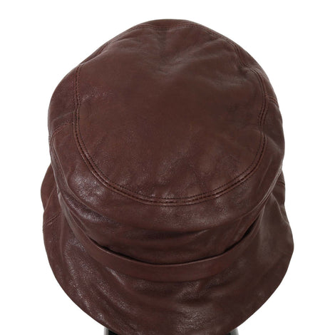Dolce & Gabbana Plain Brown Sheep Leather Bucket Hat - Women - Accessories - Hats - Dolce & Gabbana | Gethuda Fashion