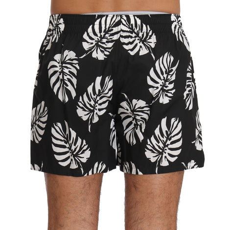 Dolce & Gabbana Black White Leaves Print Pajama Sleepwear - Men - Apparel - Lingerie And Sleepwear - Pajama Sets - Dolce & Gabbana | Gethuda Fashion