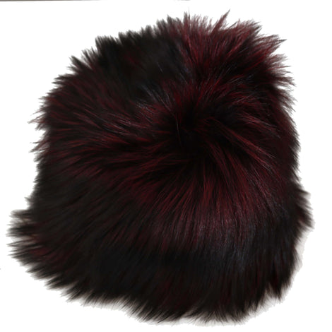 Dolce & Gabbana Maroon Black Silver Fox Fur Winter Hat - Women - Accessories - Hats - Dolce & Gabbana | Gethuda Fashion
