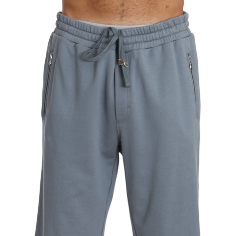 Dolce & Gabbana Blue Cotton Casual Soft Sweatshorts - Men - Apparel - Shorts - Casual - Dolce & Gabbana | Gethuda Fashion