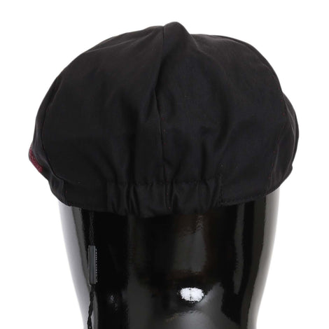 Dolce & Gabbana Black Cotton Plain Crown Logo Newsboy Hat - Men - Accessories - Hats - Dolce & Gabbana | Gethuda Fashion